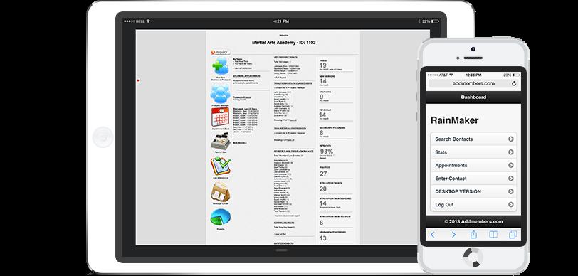 RainMaker Martial Arts Software Mobile