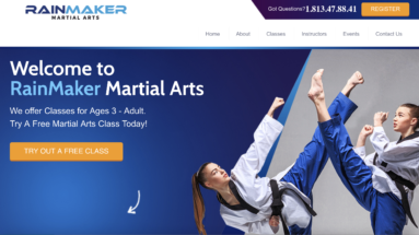 Martial Arts School Landing Page Services