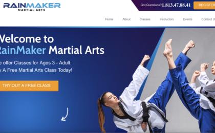 Martial Arts School Landing Page Services