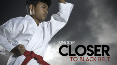 Post card - one step closer to black belt